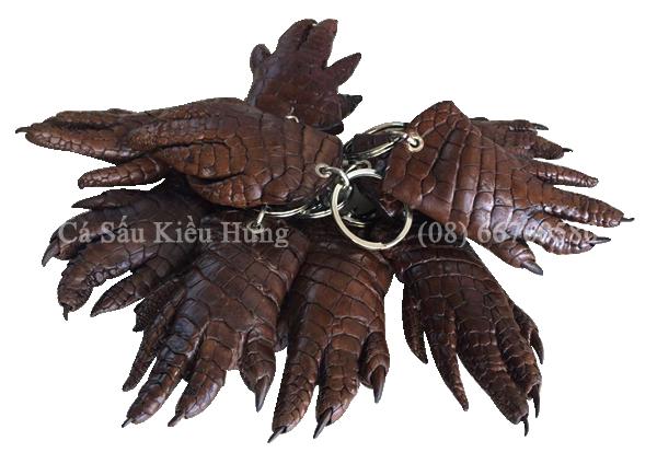 Móc khóa da bàn tay cá sấu-7286